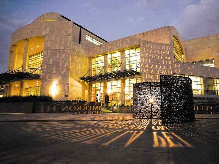 MD Anderson Library on the campus of the University of Houston